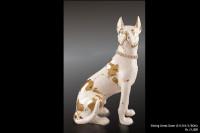 Ceramic Statues Sitting Great Dane