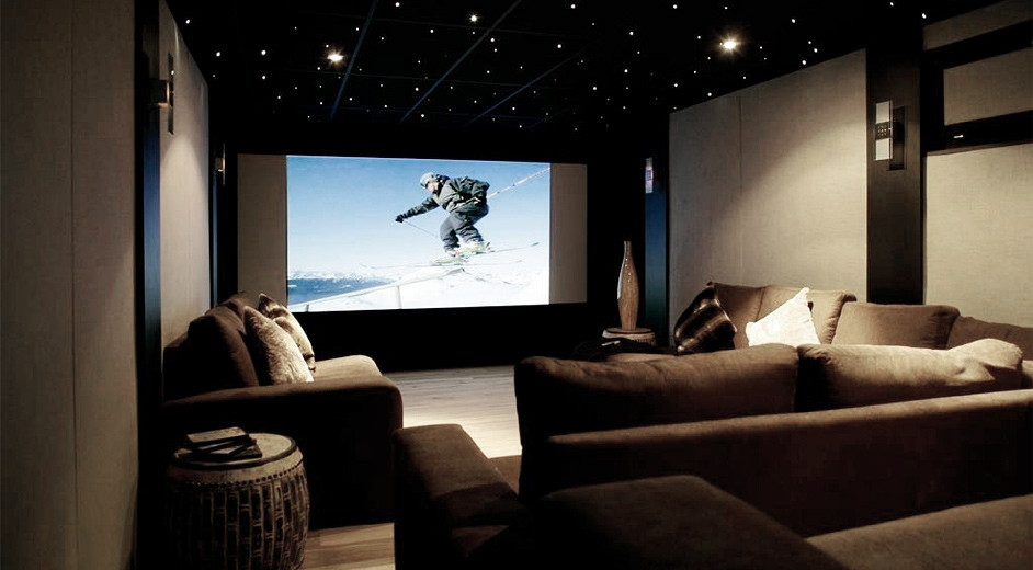 Large OLED TV in Living Room