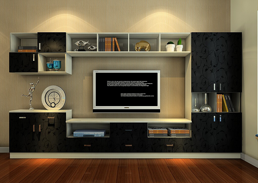 Designer Wall Cabinet for TV and Accessories