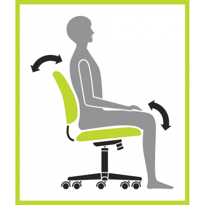 Knee Tilt Mechanism of Office Chair
