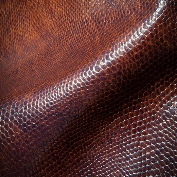 Dark Brown Embossed leather
