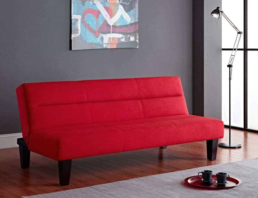 Designer Maroon Sleeper Sofa Bed at Idus Furniture Store