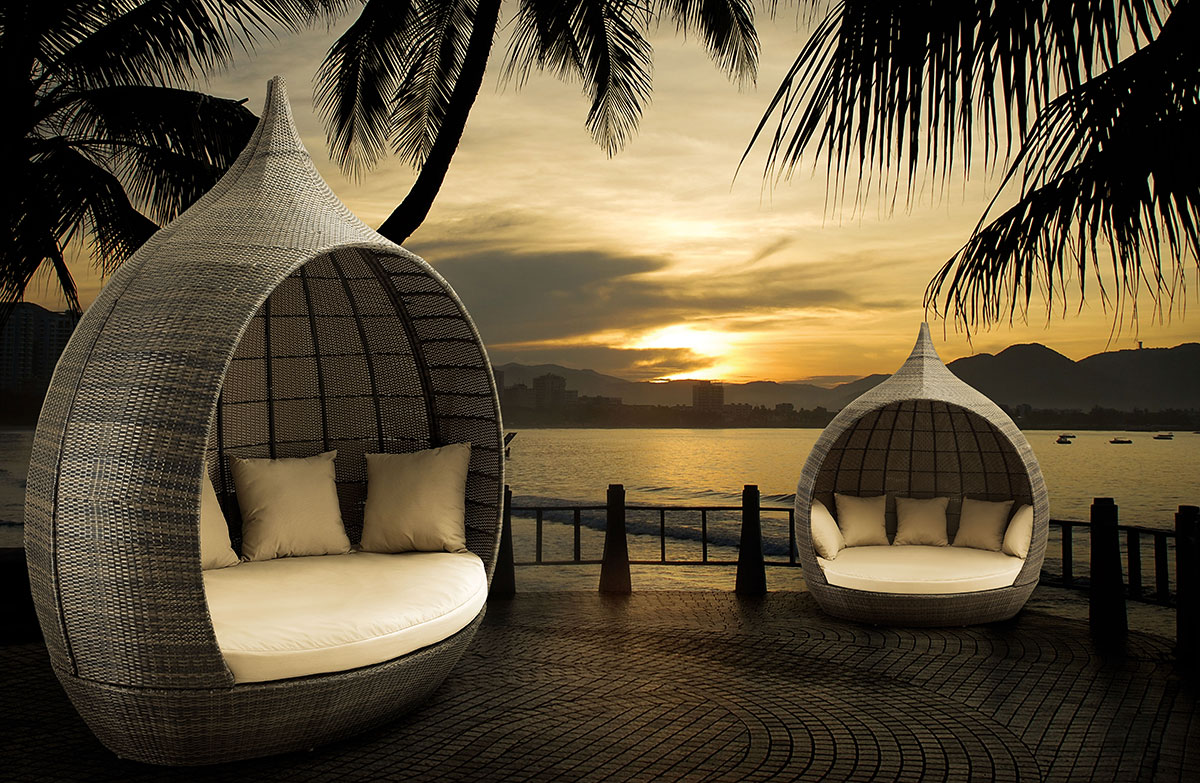 outdoor furniture daybed 7 martinique luxury wicker enclosed