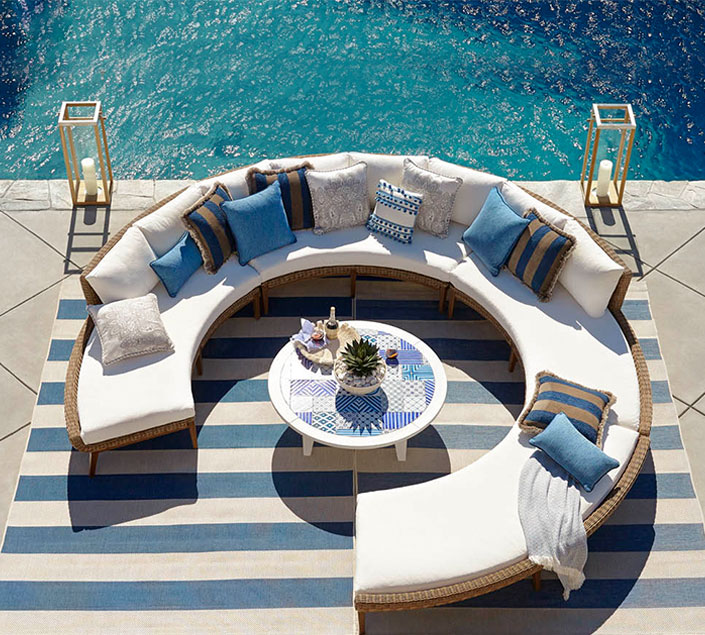 Designer Round Shape Outdoor Sofa at IDUS Furniture Store