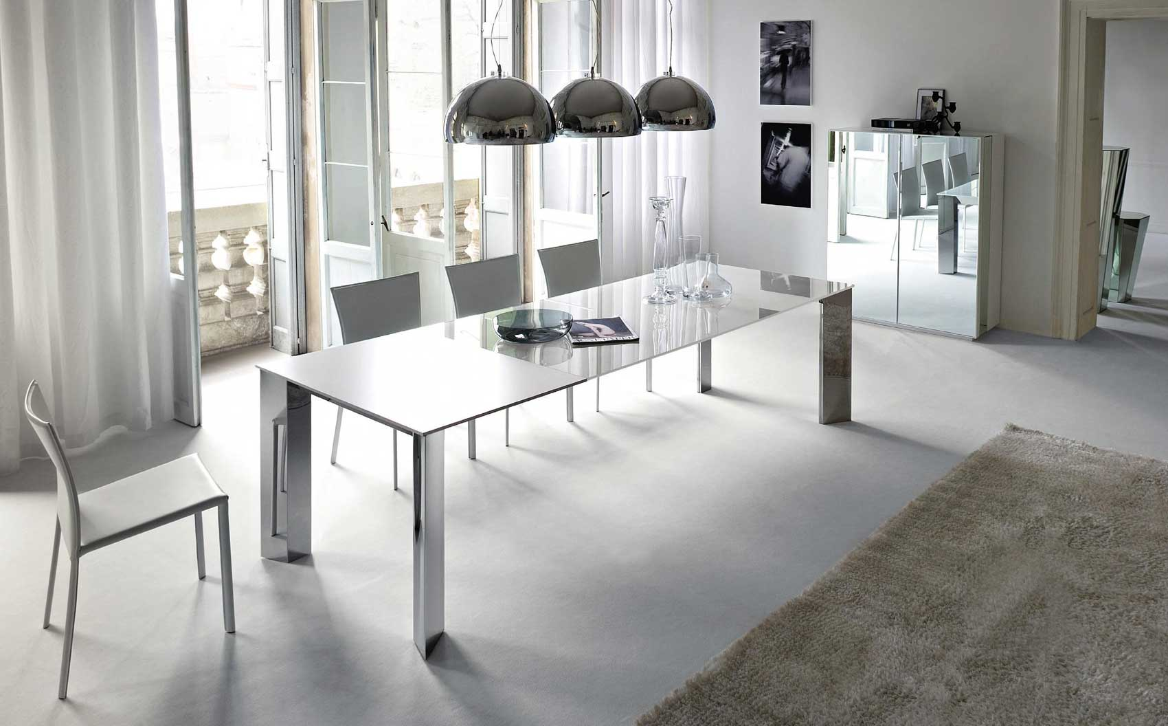 8 Seater Glass Dining Table