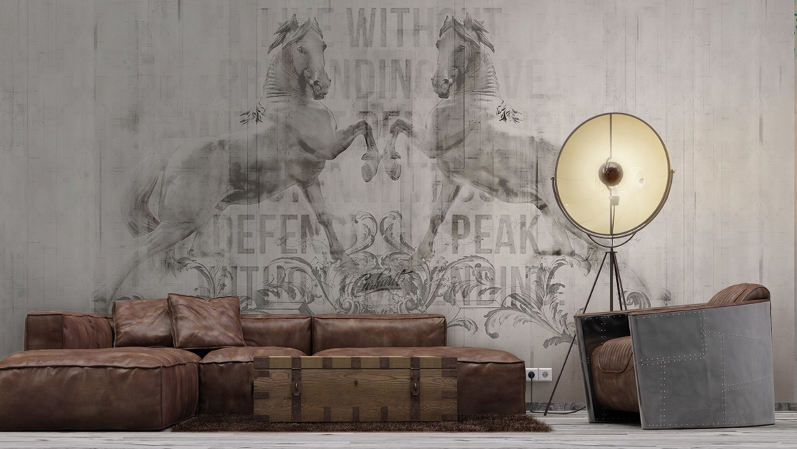 Horse Background Wall with Words