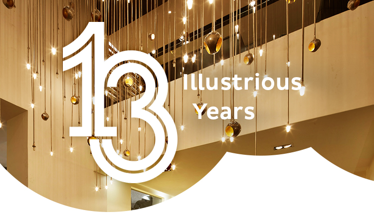 CELEBRATING 13 GLORIOUS YEARS OF DESIGNING SPACES
