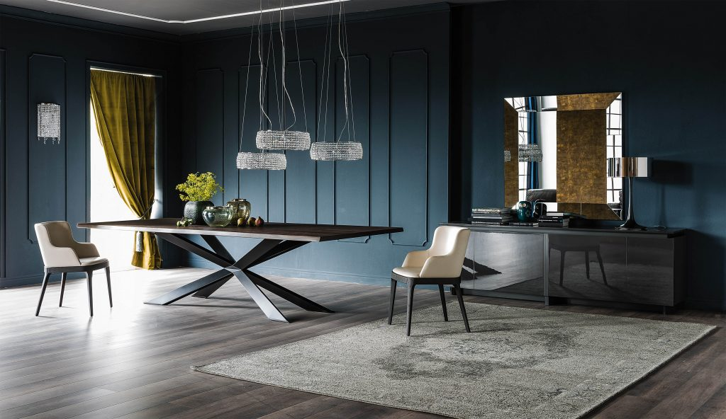 Spyder Wood Dining Table by IDUS