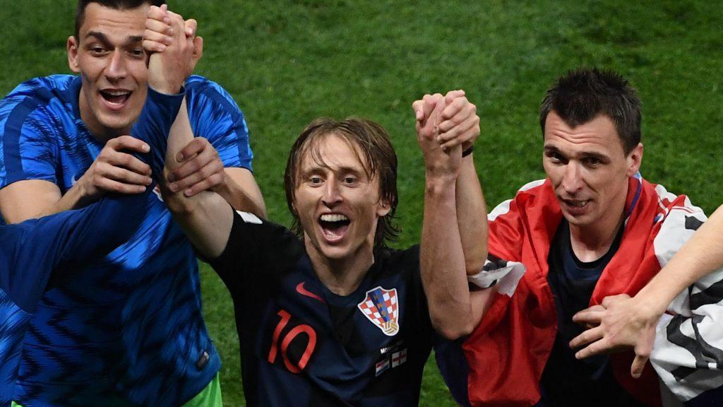 Luka Modric, Ivan Rakitic and Mario Mandzukic
