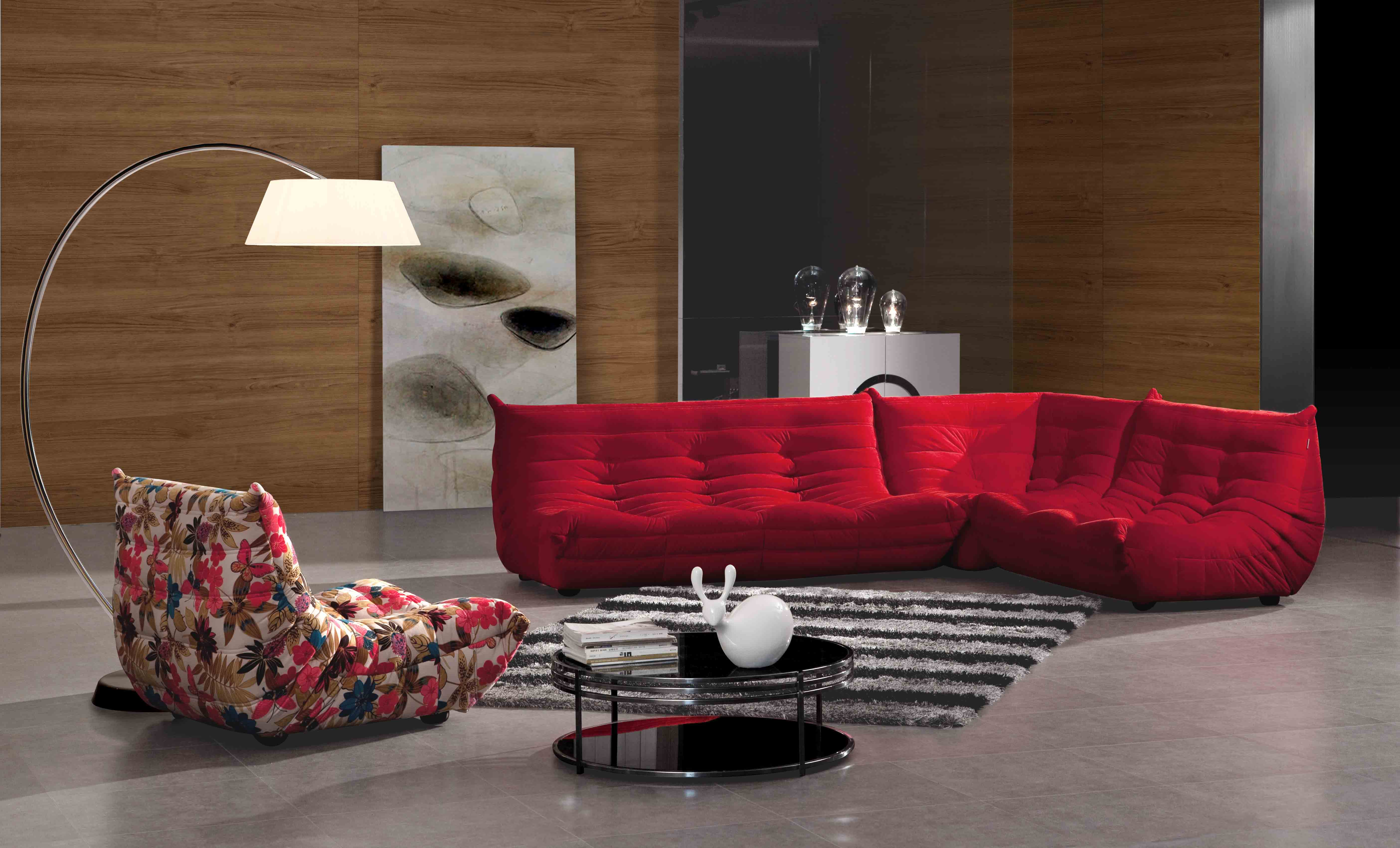 Red Buffalo 3 Seater Fabric Sofa at IDUS Furniture Store