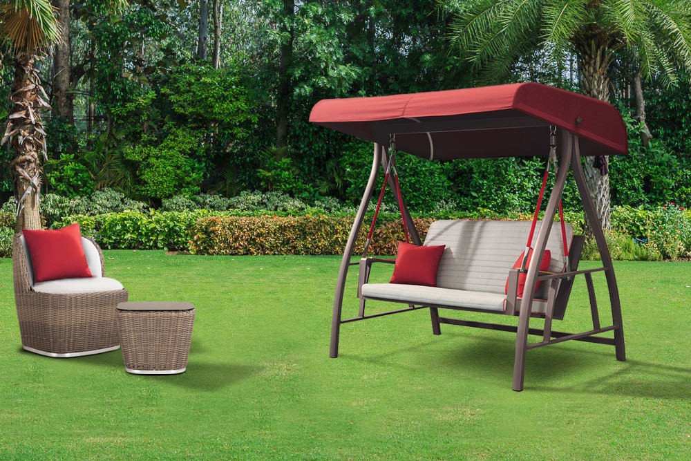 Red Nofi Outdoor Swing Chair For Valentine's Day at IDUS