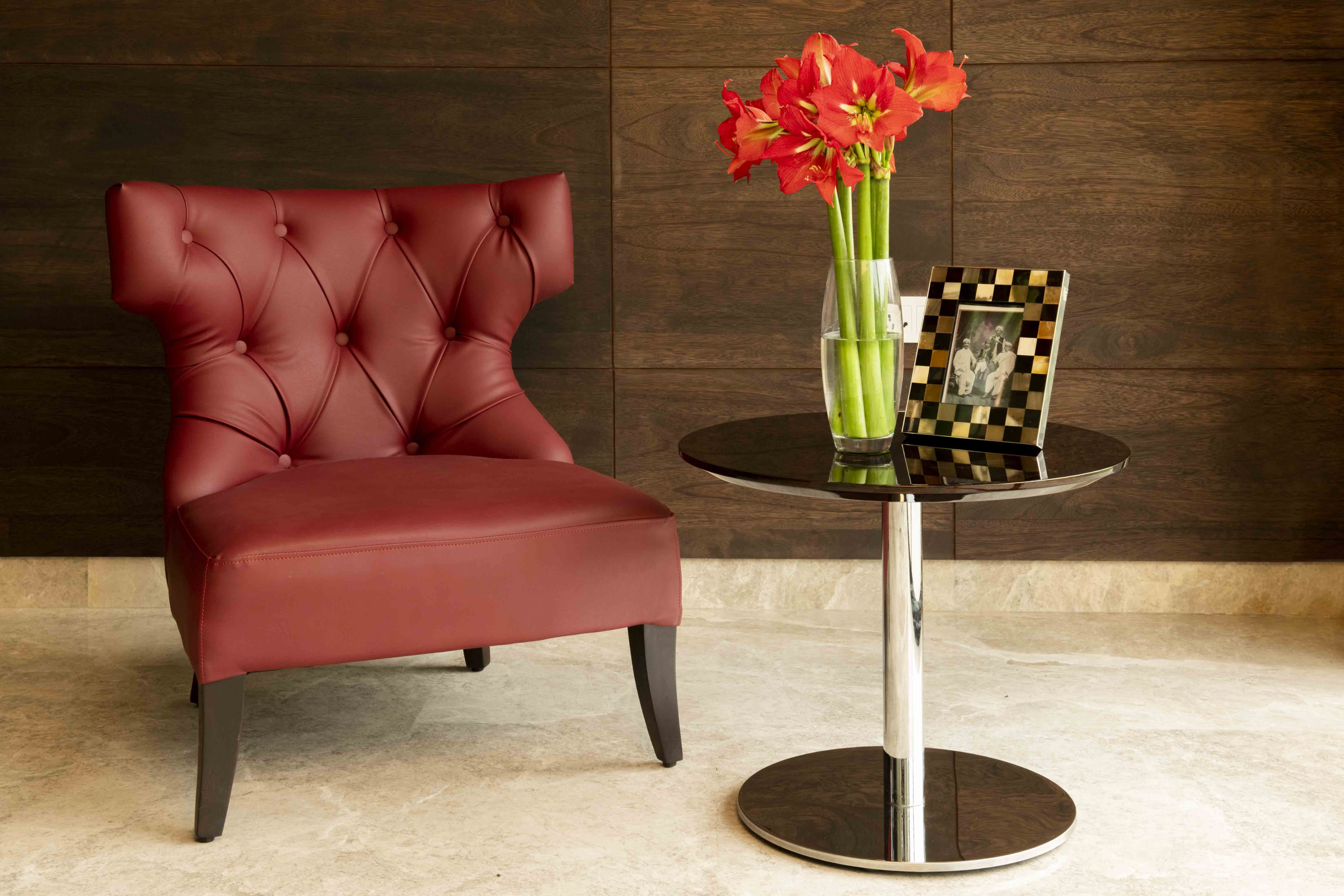 Red Berger Arm Chair For Valentine's Day From IDUS