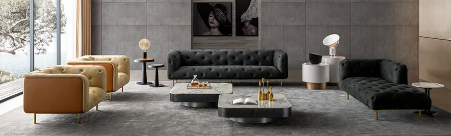 Luxury Italian Leather Sofa Sets at IDUS Furniture Store