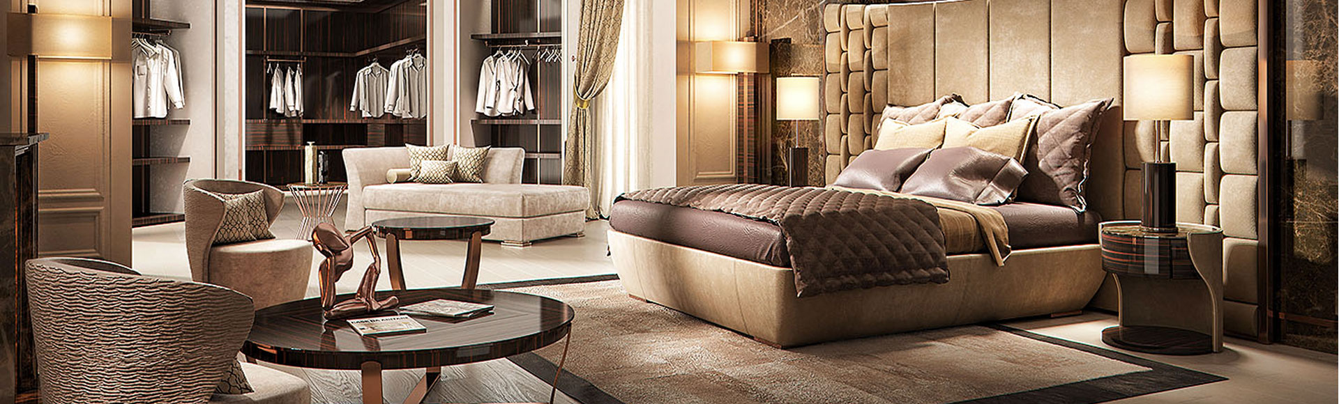 Italian Leather Bed at IDUS Furniture Store