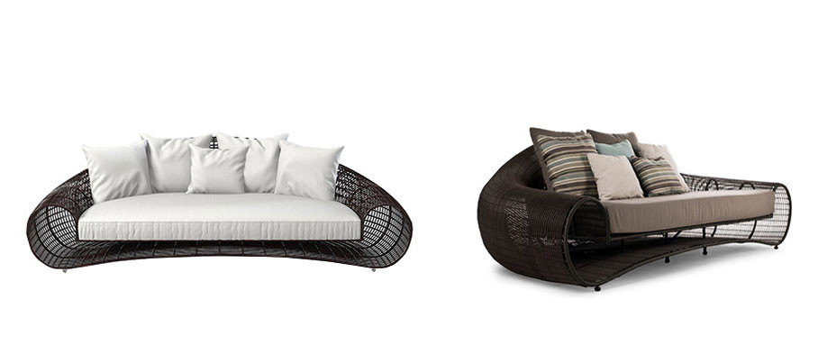 Croissant 3 Seater Outdoor