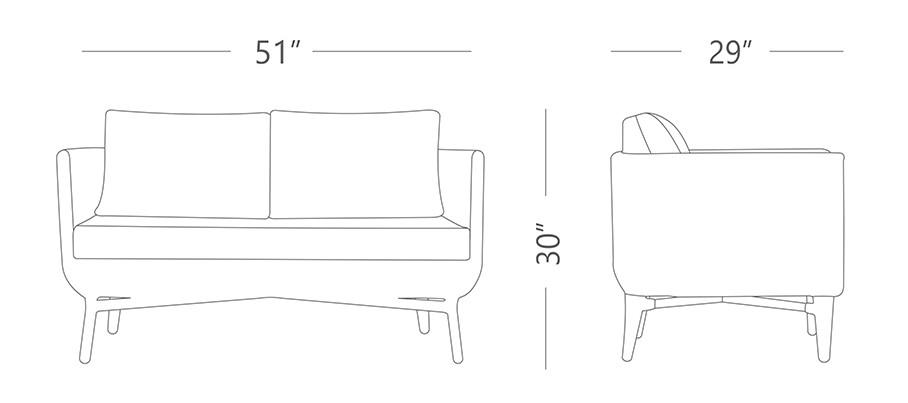 York Outdoor Sofa Set