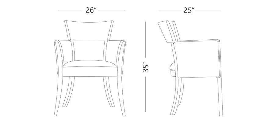 Absolute w arm Dining Chair
