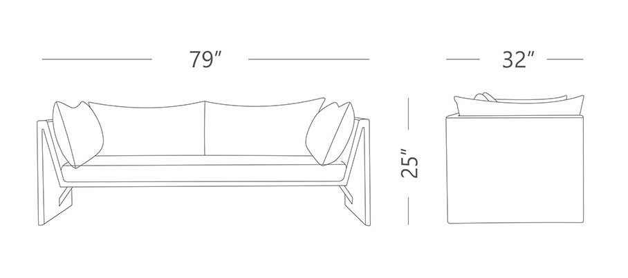 Slimline Outdoor Sofa Set