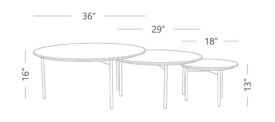 Tre set of 3 Center Table