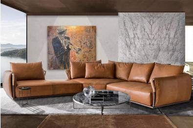 Aforsima Leather Sectional Sofa