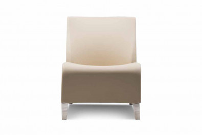 Coral Leatherette Chair