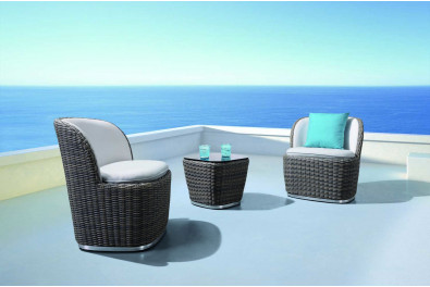 Rattan Thumb Outdoor Seat Set