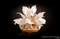 Ceramic Statues Calla Bouquet