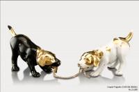 Ceramic Figurines Couple Puppies