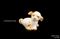 Ceramic Figurines Crouching Macchia Dog