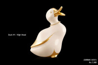 Ceramic Art Duck High Head