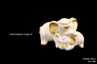 Ceramic Art Elephant Couple