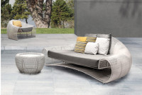 Croissant 3 Seater Outdoor Sofa