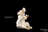 Ceramic Art Sitting Elephant