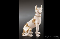 Ceramic Statues Sitting Great Dane