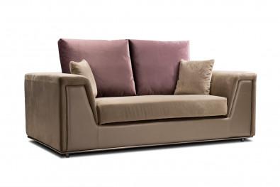 Lavish 4 Seater Corner Sofa Leather And Fabric Sofa