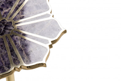 Amethyst  Precious stone side table