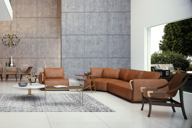 Aforsima Leather Sectional Sofa