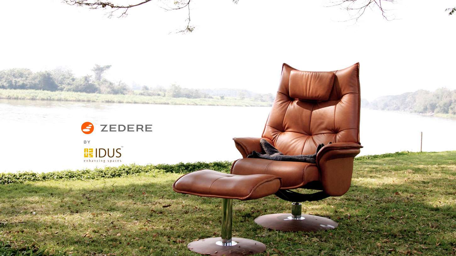 Zedere Leonardo Recliner leather Chair by IDUS Furniture Store.