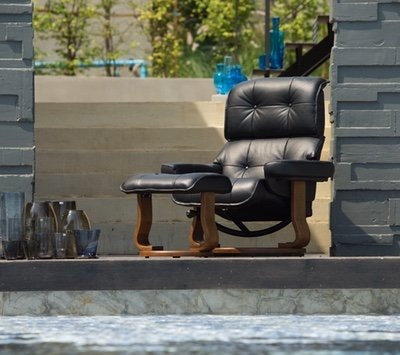 Leather Reclining Sofa By IDUS